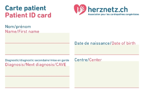 Carte d'identification du patient